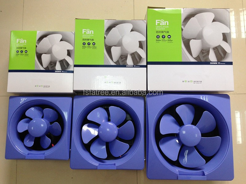 Plastic bathroom kitchen exhaust fan with louver ce buy for 8 kitchen exhaust fan