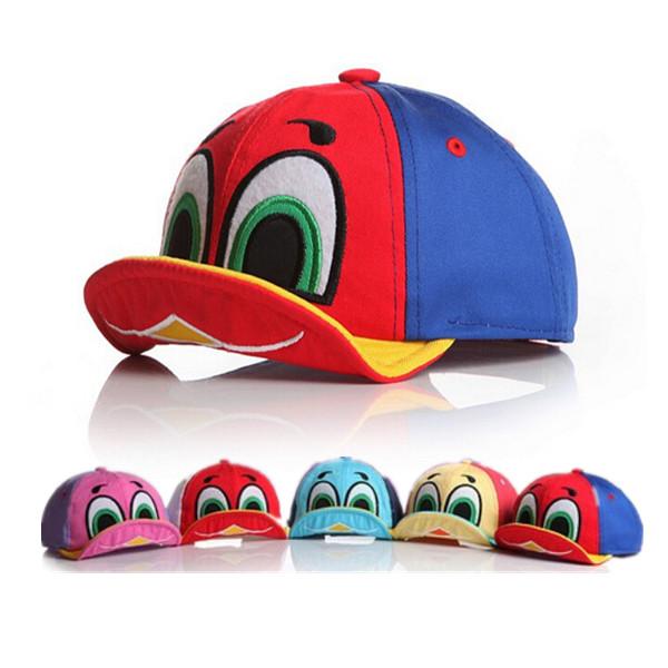 d61693bf3f7d2 2015 New Fashion Cute Design Baby Boy Girl Cartoon Duck Hat Kid Sun Hat  Baseball Caps Children Clothing Accessories 5 Colors
