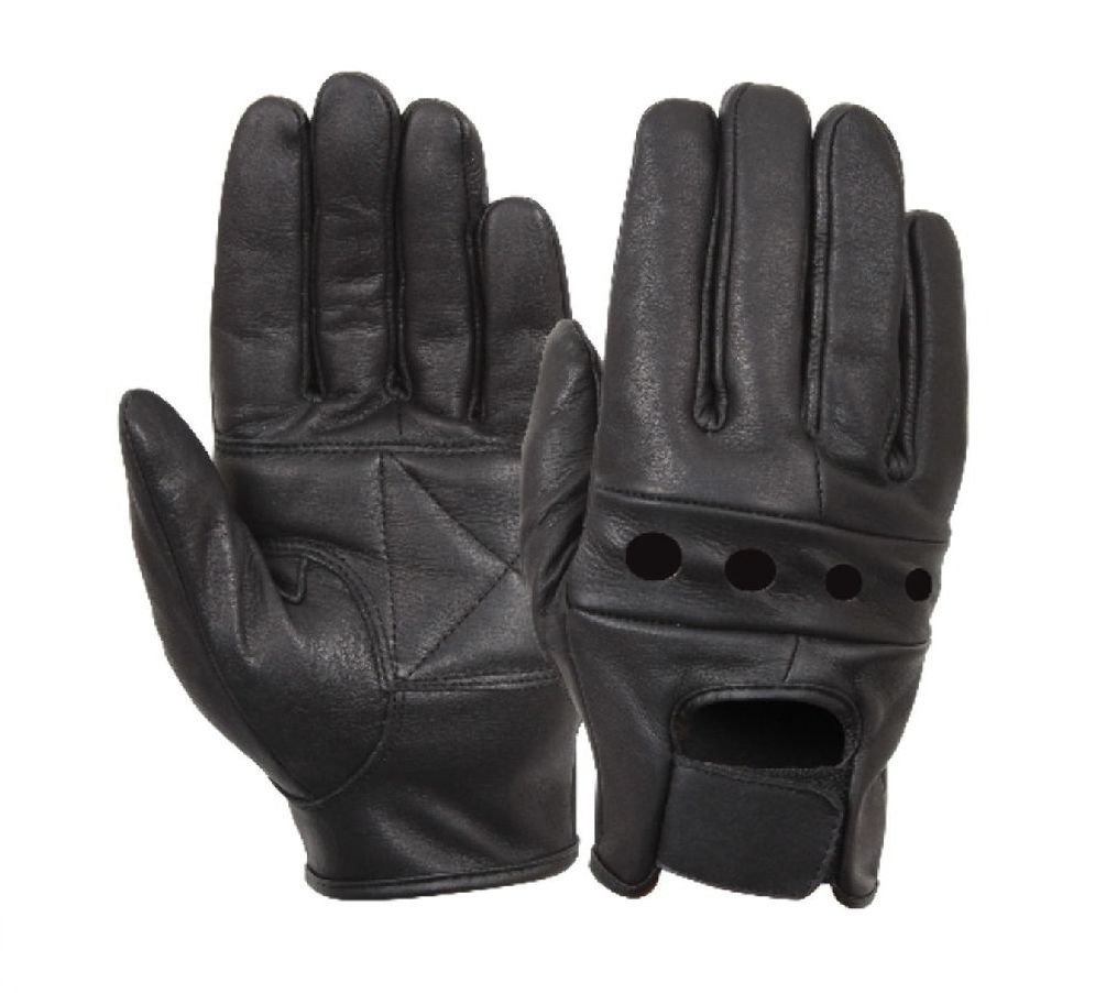 ICRGREY Mens Genuine Leather Warm Lined Driving Gloves Motorcycle Gloves