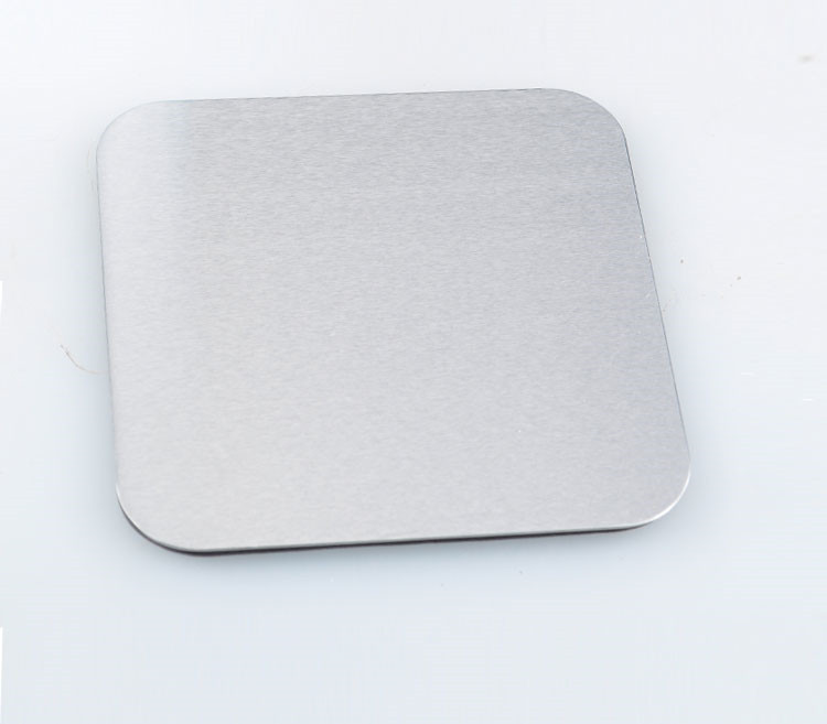 10 cm, 3mmthickness Ronde Metalen Aluminium/rvs Coaster 4 stuks Set