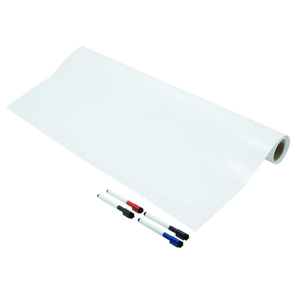 Lockways Dry Erase Whiteboard Film - Dry Erase Self-Adhesive Wall Decal Sticker 6 x 4, 72 x 48 Inch Whiteboard Stick Sheet for Classrox 4, 72 x 48 Inch Whiteboard Stick Sheet for Classroom Home Office