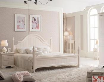 Rococo Bed Kopen : Matte schilderen hoge kwaliteit rococo wit slaapkamer meubilair