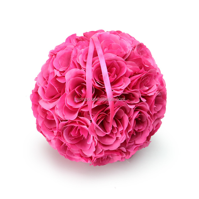 Buy cheap china decorative wedding flower ball products find china factory wholesale 25cm silk rose artificial decorative hanging wedding flower ball mightylinksfo