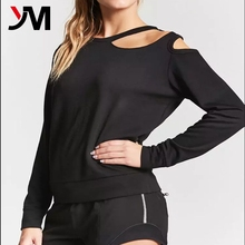 Wholesale active wear women sportes wear clothing sexy sports long sleeve crop top wtih cheap price
