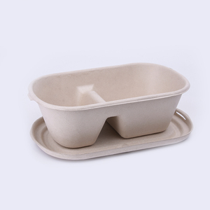 Fast food outlets serving disposable catering microwave safe recycle paper lunch box Degradable