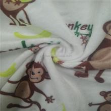 Digital printed factory warm printed poly velour fabric