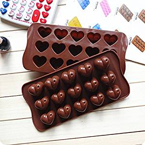 HuntGold 1X Funny Chocolate Hearts Mold Ice Cube Tray Cookie Cake Silicone Mould(Pack of one)
