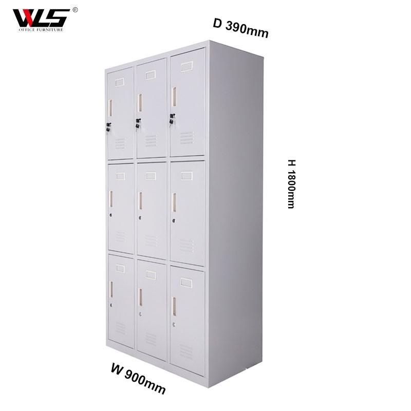 9 Door Unturned Metal School Locker Metal Storage Locker - Buy ...