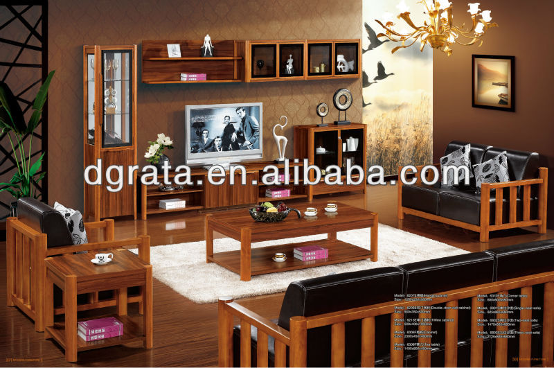 2012 new modern African living room furniture is used solid wood and MDF board to finish for the house furniture