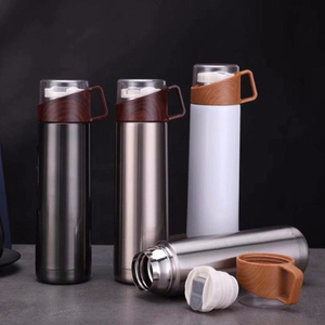 High Quality Fashionable Water Bottle With Handle Cup Vacuum Flasks Stainless Steel Thermos