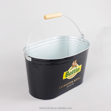 oval and rectangle iron tin beer ice bucket
