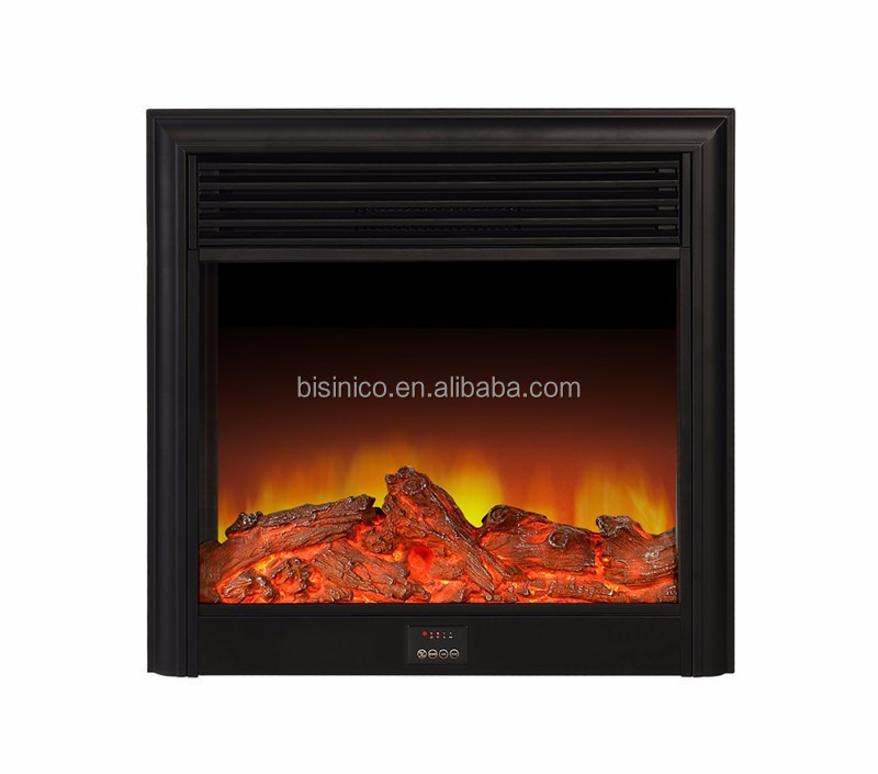 Contemporary Classic Electric Fireplace Heater In Black Digital