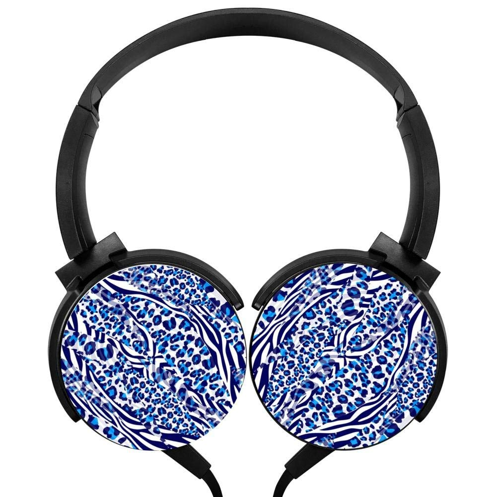 Xerjij Pattern Wired Stereo Headset Bass Headphones for Computers Mobile Devices