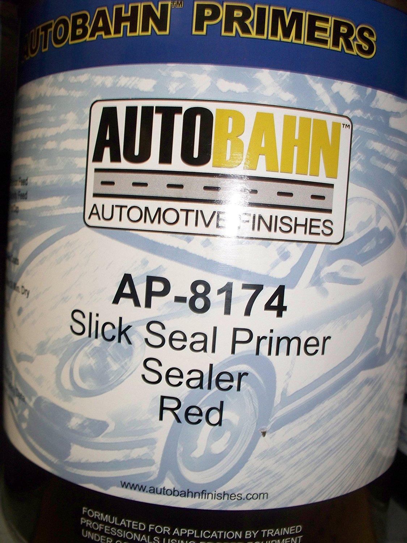 Autobahn AP-8174 1 Gallon Red Slick Seal Primer Sealer Kit Wholesale Auto Paints Gallon Auto Car Truck Paint kit Restoration Project Body Shop Repair Touch Up Boat Golf Cart Airplane Aluminum
