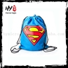 Plastic waterproof drawstring backpack bag with CE certificate