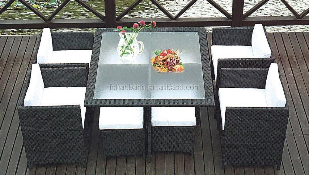 Dining Set Tuin : Ruimtebesparend tuin rotan kubus set tafel outdoor dining set