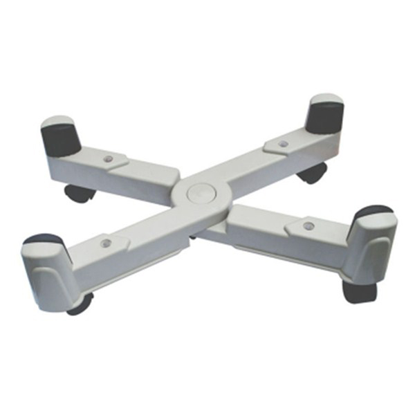 Flexible width and height adjustable CPU stand with four wheels