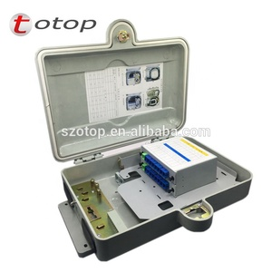 SMC optical splitter corridor box,Wall Mounting 24 Insert Piece Type SMC Fiber Optic Distribution Box