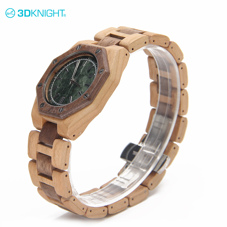 Cherry+Walnut wood custom brand quartz mens watch importers