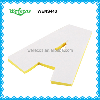 Letter shaped sticky notes buy letter shaped sticky for Buy letter shaped sticky notes