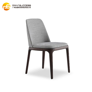 nordic style new armless modern grey dining chair