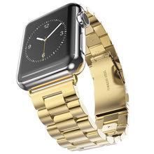 Сменный ремешок из нержавеющей стали, Прочная Складная металлическая застежка для Apple Watch 44 мм 40 мм серии 5 4 3 iwatch 38 мм 42 мм(Китай)