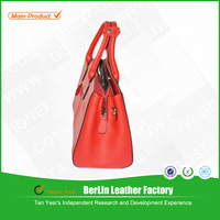 China red fashion genuine leather bag/customed lady bag /handbag/women bag low price &high quality