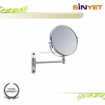 8 Inch Wall Mount Magnificent Chrome Plated Swivel Vanity Makeup Face Bathroom Mirror