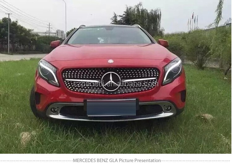 Front Diamond Silver Grille For Mercedes B*enz Gla Class With Led ...
