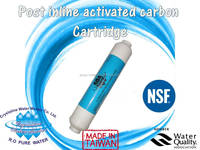 NSF Certified Made in Taiwan Post inline active carbon water filter