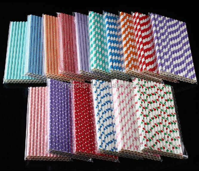 Party Favor Event & Party Item Type and Christmas Occasion Chevron Paper Drinking Straws