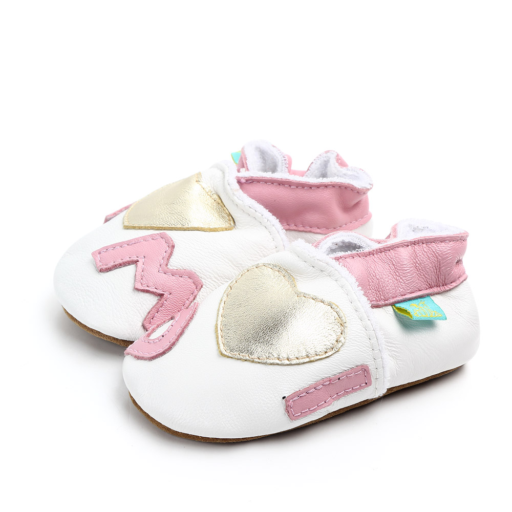 5//6 UK Child, Pink Unicorn Cartoon Baby Moccasin Soft Leather Toddler First Walker Infant Shoes 0-24 Months