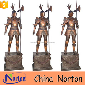 hand carving knight armour brass statue NTBH-S725X