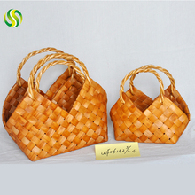 Sell well manual wicker bag as Thanksgiving Day gift