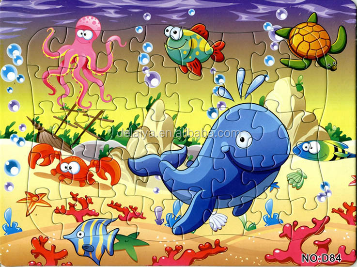 40 pieces undersea world paper jigsaw puzzle
