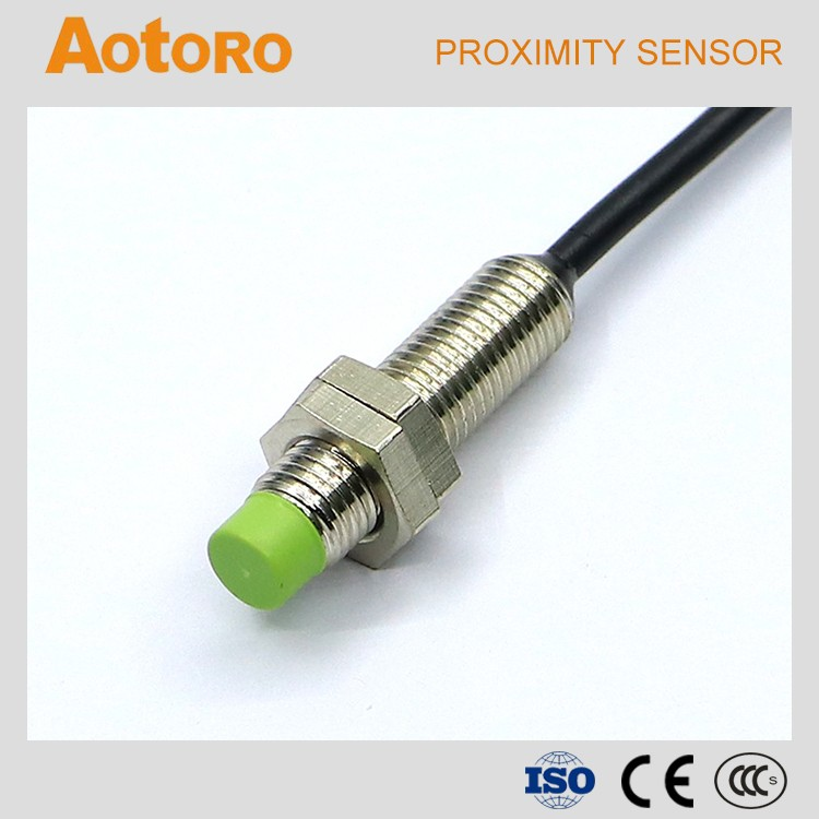 Inductive sensor for metal detection M8 FR08-2DN alibaba china proximity switch cables