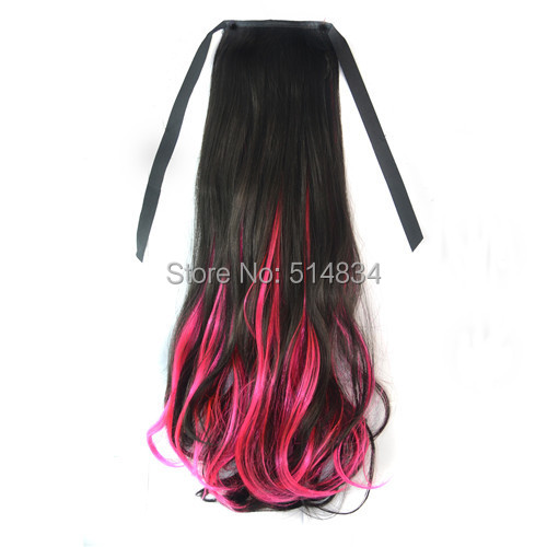 1pc 2015 pony tail hair hairpiece synthetic ponytail extension,ponytail hairpieces colorful ponytails for women