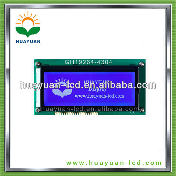 4.3inch stn 192x64 dots lcd module low power with controller ks0107