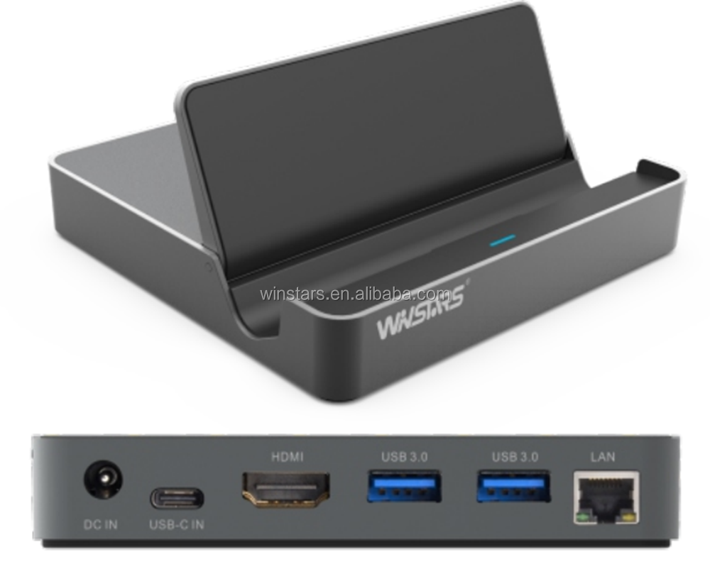 USB 3.1 Universal Mini Docking Station dengan Melewati Pengisian, Gigabit LAN Docking Station