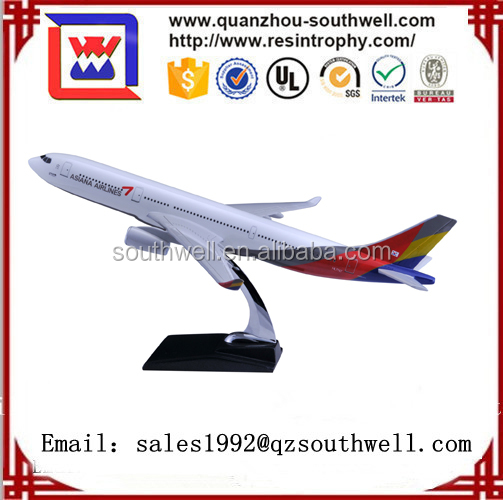 CUSTOMIZED LOGO RESIN MATERIAL A330 ASIANA set palne model
