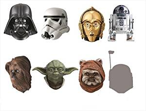 STAR WARS REAL MASK MAGNET COLLECTION -BEST SELECTION- BOX commodity 1BOX = 8 pieces, all seven + one secret