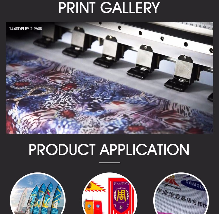 popular 1.8m 2 pcs pc3200 head cmyk polyester automatic printing machine on cloth