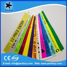 One time use customized waterproof tyvek/vinyl/paper wristbands