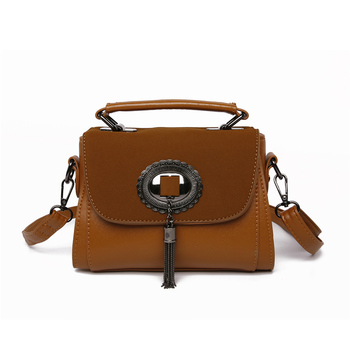 Women Tassel Summer Design Small Leather Shoulder Handbags