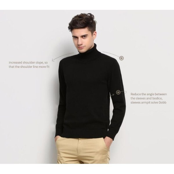 c1f80d44d93dc Hot 2017 New Autumn Winter Brand Clothing Sweater Men Turtleneck Slim Fit Winter  Pullover Men Solid Color Knitted Sweater Men
