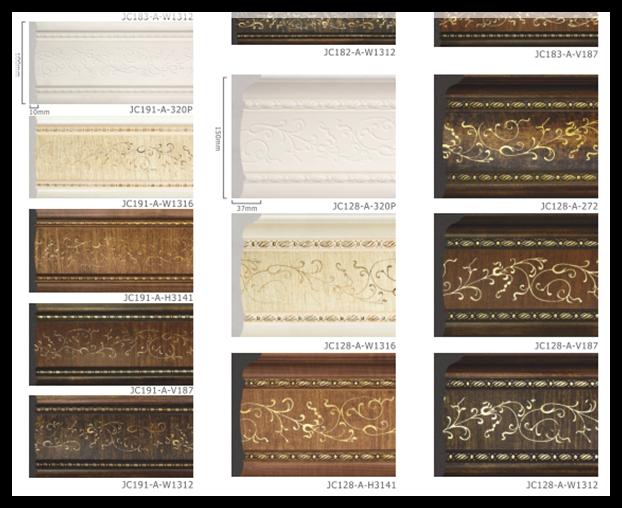 Calidad de color beige y negro y blanco poliestireno panel - Molduras de poliestireno ...
