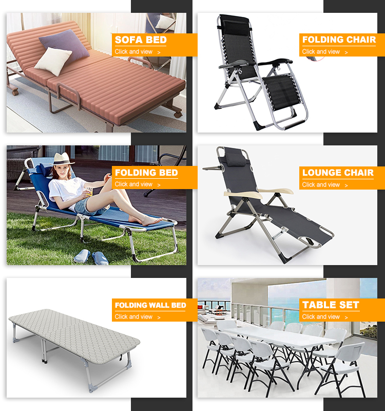 Niceway Compact portable heavy duty camping cots Outdoor folding sleeping bed for 1 person