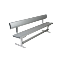 Outdoor stadium park garden coating aluminum bench
