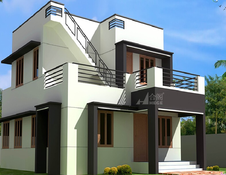 Garage Style Luxury Container Flat Pack House With Garage