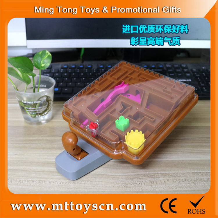 Promotional plastic intellectual toys magic castle handheld game maze